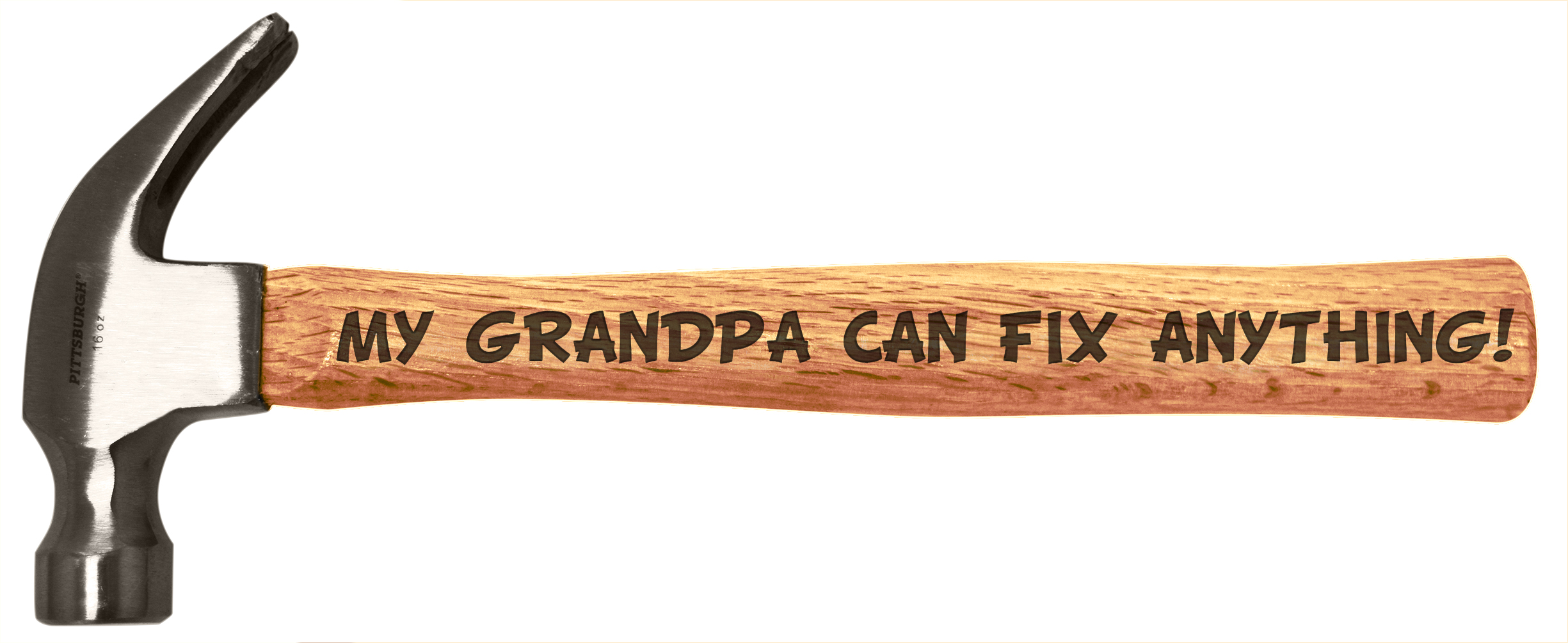 Father's Day Gift Grandpa Can Fix Anything DIY Tool Gift Engraved Handle Hammer