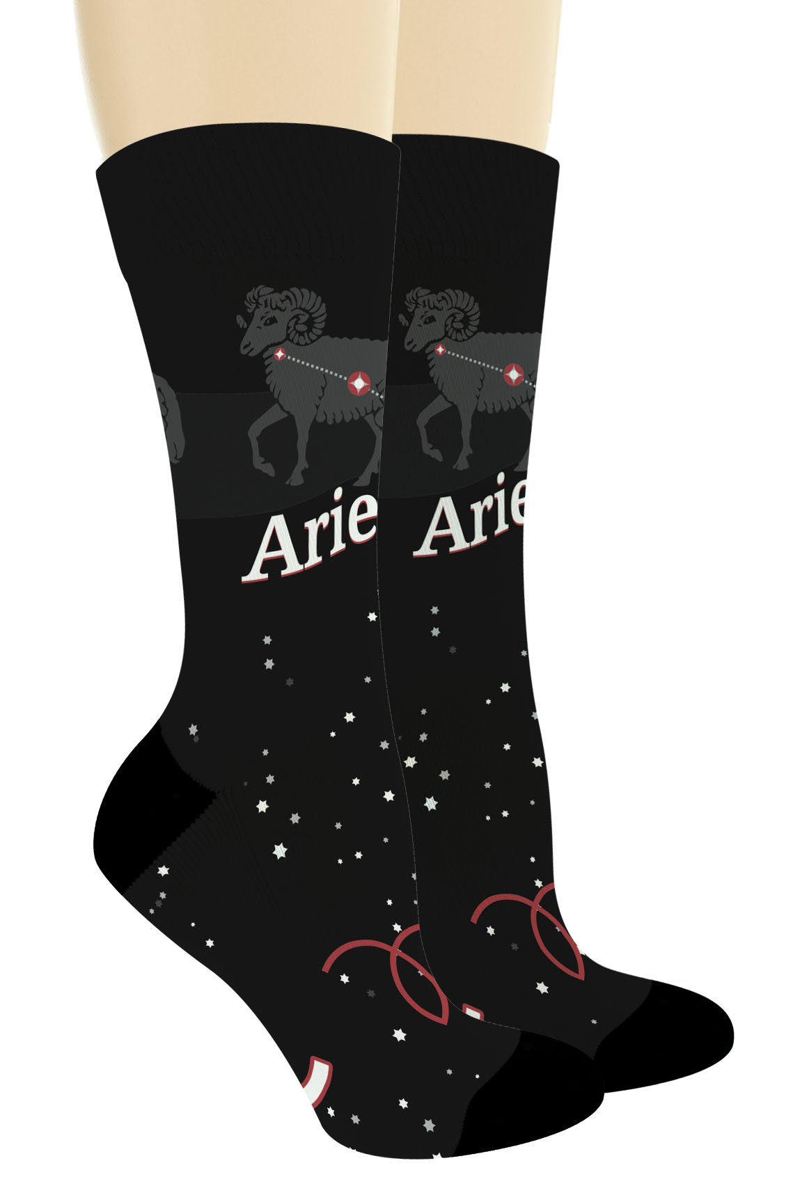 Birthday Zodiac Gifts Zodiac Sign Aries Zodiac Socks Novelty Crew Socks