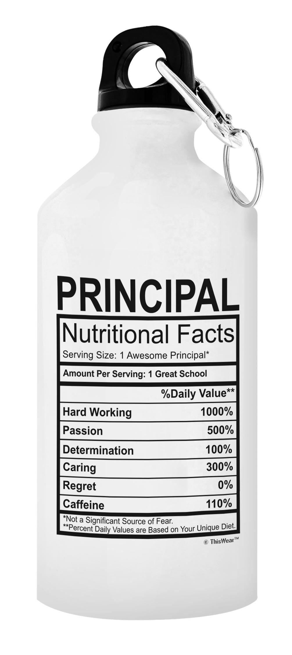 Principaux Cadeaux pour Hommes principaux Nutritional faits School aluminium Bouteille d/'eau
