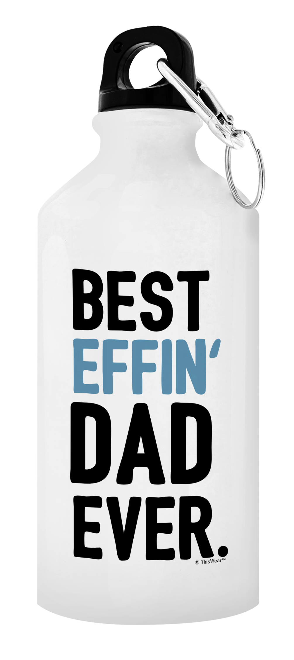 Fathers Day Gifts for Dad Best Effin/' Dad Ever Perfect Aluminum Water Bottle