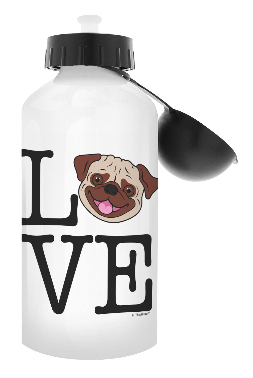 Pug Dog Gifts Pug Water Bottle Dog Themed Gifts Aluminum Aluminum Water Bottle